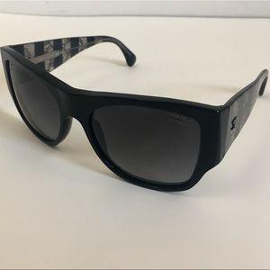 Chanel Polarized Black Large Sunglasses